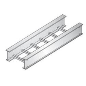 "United Structural Products A620B-09-SL20-12-G Cable Tray, Ladder, Aluminum, 9"" Rung Spacing, 12"" W x 6"" H x 20' L"