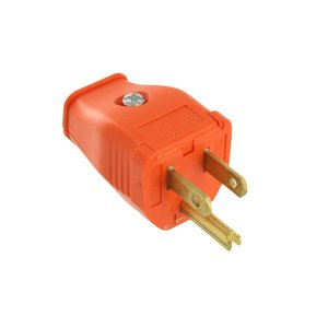 leviton 3w101-or grounding plug, 2 pole, 3 wire, 15a, 125v, orange