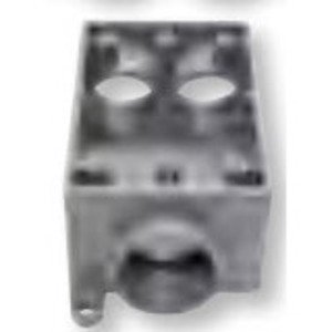 "Bizline FSCC100 FS Device Box, 1-Gang, Feed-Thru, 1"" Hubs, Non-Metallic"