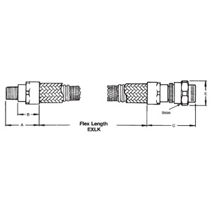 "Appleton EXLK-212 Flexible Coupling, 3/4"" x 12"" Long, Explosionproof"