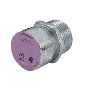 "Appleton CG-75100S Cord/Cable Connector, Strain Relief, Liquidtight, 1"", Steel"