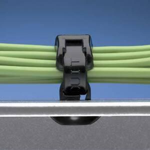 Panduit PBMS-H25-M0 Cable Tie Mount, Push Button, WRBL