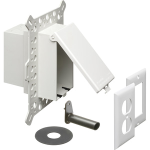 Arlington DBVM1W Weatherproof-In-Use Box, 1-Gang, Recessed, Vertical, Non-Metallic
