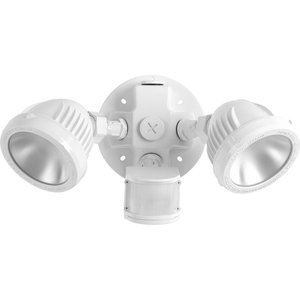 Progress Lighting P6341-2830K Two-Light Security/Flood Light With Motion Sensor