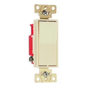 Pass & Seymour 2621-I Decora, 20 Amp, 120/277 Volt, Ivory