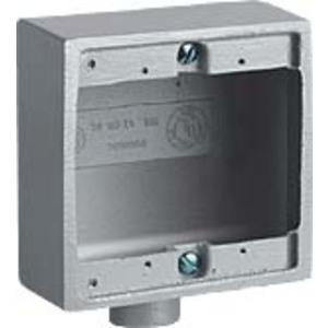 "Hubbell-Killark 2FS-1 Device Box 2gang Shlw Al 1/2"""