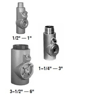 "Appleton EYS56 Sealing Fitting, Vertical/Horizontal, 1-1/2"", Explosionproof, Malleable"