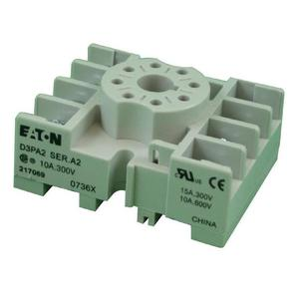 Eaton D3PA2 Socket, Octal, 8 Pin, Screw & Clamp Terminals