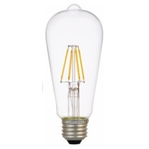 SYLVANIA LED4.5ST19DIM827FILG2RP Filament LED Lamp, 4.5W, Bulb: ST19