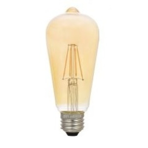 SYLVANIA LED4.5ST19DIM822VINRP Filament LED Lamp, 4.5W, ST19, 120V, Amber