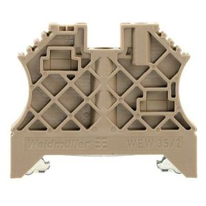 Weidmuller 1061200000 Terminal Block, End Barrier, 8 mm, Screw On, Dark Beige,