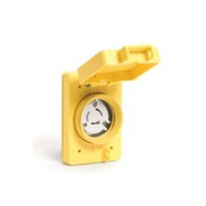 Woodhead 69W47 Watertight Receptacle, 30A, 125V, 2P3W, L5-30, Yellow