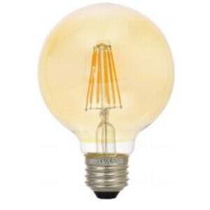 SYLVANIA LED4.5G16.5DIM822VINRP LED Vintage Lamp, 4.5W, G16.5, 2175K, 360 Lumen, 120V, Amber