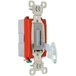 Pass & Seymour PS20AC1-L Lock Switch, 1-Pole, 20A, 120/277V, Gray