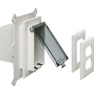 Arlington DBVS1C Weatherproof-In-Use Box, 1-Gang, Recessed, Vertical, Non-Metallic