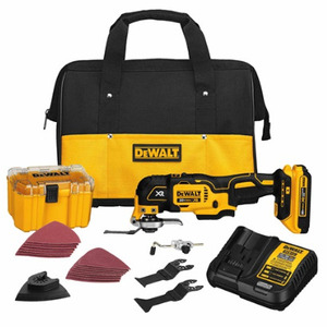 DEWALT DCS355D1 20V MAX* XR Lithium Ion Oscillating Multi-Tool Kit