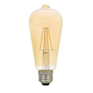 SYLVANIA LED6.5ST19DIM822VINRP Filament LED Lamp, 6.5W, ST19, 120V, Amber