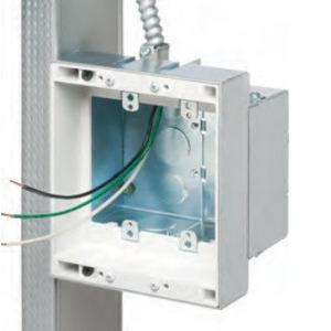 Arlington TVBS505BL Faceplate, 2 Port, Tamper Resistant, Breakouts, Off White