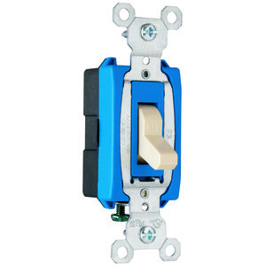 Pass & Seymour CS15AC1-I Single Pole Switch, 15A, 120/277VAC, Ivory
