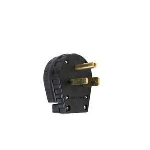 Pass & Seymour 3869 Angled Plug, 30/50A, 250V, 6-30P/6-50P, Black