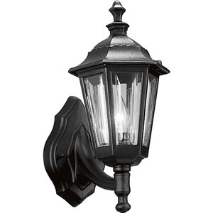 Progress Lighting P5826-31 Wall Lantern, Outdoor, 1-Light, 75W, Black