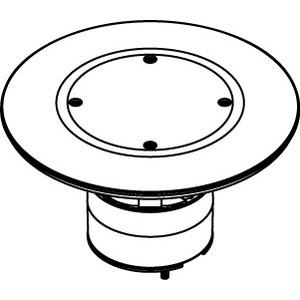 """Wiremold ABPLUG3 Poke-Thru Abandonment Plug, 3"""" Core Hole, Aluminum"""