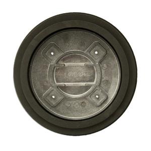 "Wiremold RCAPFFTCBK Abandonment Plate, Diameter: 7"", Die Cast Aluminum"
