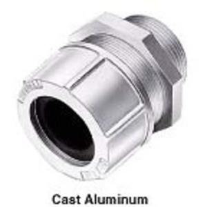 "Hubbell-Kellems SHC1053 Cord Grip, Straight, Size: 1-1/4"", Cord Range: 1.13 - 1.25"", Aluminum"