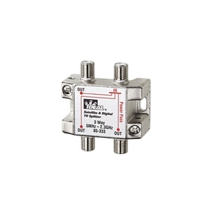 Ideal 85-333 Splitter, 3-Way, Satellite/Digital TV, 5MHz - 2.3GHz