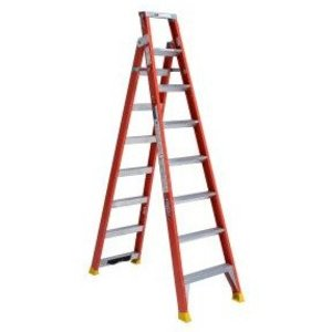 Werner Ladder DP6208 Fiberglass Dual Purpose Ladder, 8'