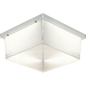 Progress Lighting P5791-68 Ceiling Light, Outdoor, 2 Light, 75W, White