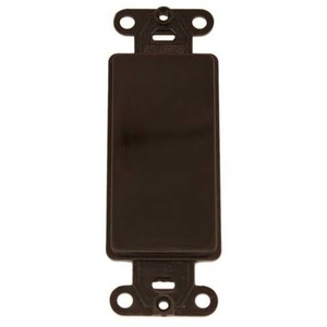 Leviton 80414 Blank Decora Adapter, No Hole, Plastic, Brown