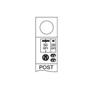 Midwest M055GP6033 70A, 1P, 120/240V, Metered Temporary Power