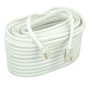 Leviton C2413-50W 4-Conductor Line Cord, 50', White