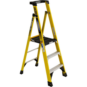 Werner Ladder PD7303 Podium Step Ladder, 3', 375lbs Capacity