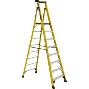 Werner Ladder PD7308 Podium Step Ladder, 8', 375 lbs