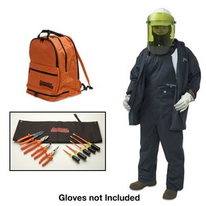 Cementex BPK-CL2K-XL Arc Flash Kit: Jacket, Overpants, Flash Shield Hat, Safety Glasses - Size: XL