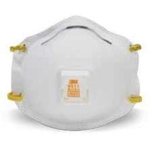 3M 8511PA1-2A-PS Sanding & Fiberglass Valved Respirator, M-Noseclip, N95 Approved