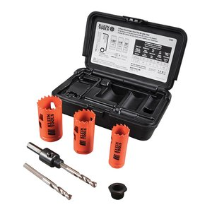 Klein 32905 Electrician's Hole Saw Kit with Arbor