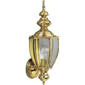 Progress Lighting P5733-10 Lantern, Outdoor, 1 Light, 100W, Polished Brass