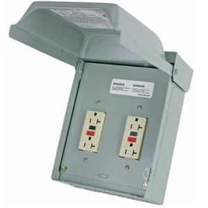 Midwest U011010 Power Outlet, Un-Metered, 20A, 1P, 120/240V, NEMA3R, Temporary