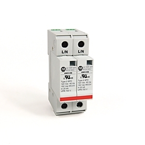 Allen-Bradley 4983-DS120-402 Surge Protection Device, 120VAC, 2P, Din Rail Mount, 700V VPR