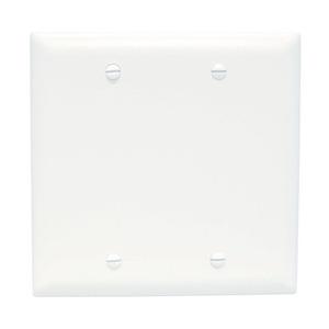 ON-Q TP23-W Blank Wallplate, 2-Gang, Nylon, White
