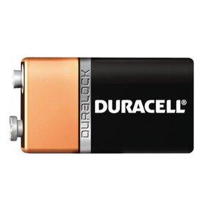 Duracell MN1604B2Z Battery, 9V, 6LR61, Alkaline, Miniature Snap Terminal