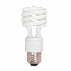 Satco S7217 Compact Fluorescent Lamp, Mini-Twister, 13W, 2700K
