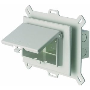 Arlington DBHS1W Weatherproof-In-Use Box, 1-Gang, Recessed, Horizontal, Non-Metallic