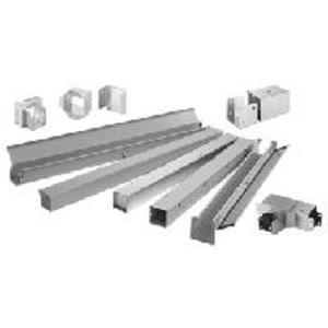 "Hoffman F44W12SS Feed-Through Wireway, Type 4X, 4"" x 4"" x 12"", Stainless Steel"