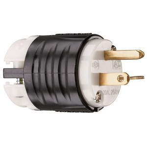 Pass & Seymour PS5466-X Male Plug, Straight Blade, 20 Amp, 250 Volt