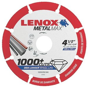Lenox 1972921 Cut-Off Wheel, Diameter: 4.5""