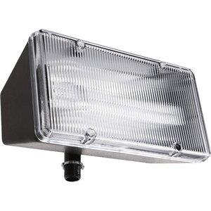 RAB PLF13 Flood Light, Compact Fluorescent, 1-Light, 13W, Bronze
